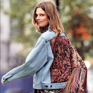 Free people paisley denim jacket
